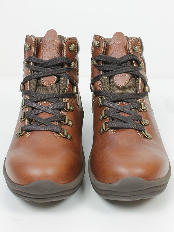 Vegan Vegetarian Non-Leather woens Black Hiking Boots Chestnut
