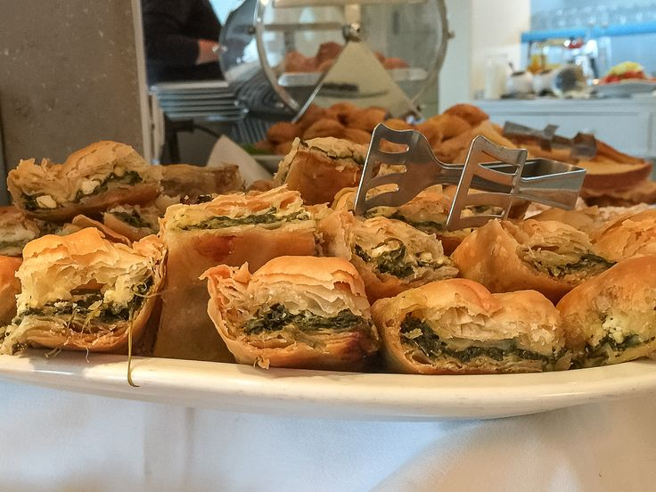 Traditional Greek spinach pies for breakfast! They offer great taste and lots of energy to get you through the day. http://www.semelihotel.gr/hotel-breakfast-mykonos/  #Semeli #SemeliHotel #Mykonos