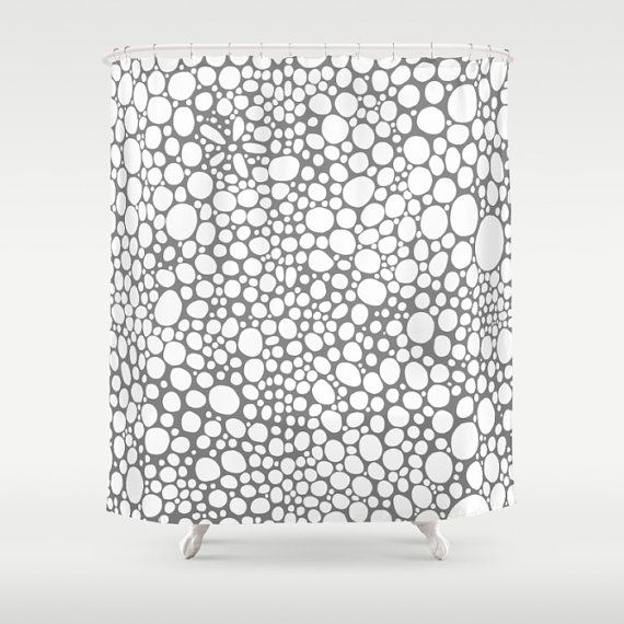 Grey Shower Curtain art funky shower curtain by SincerelyJoyStore