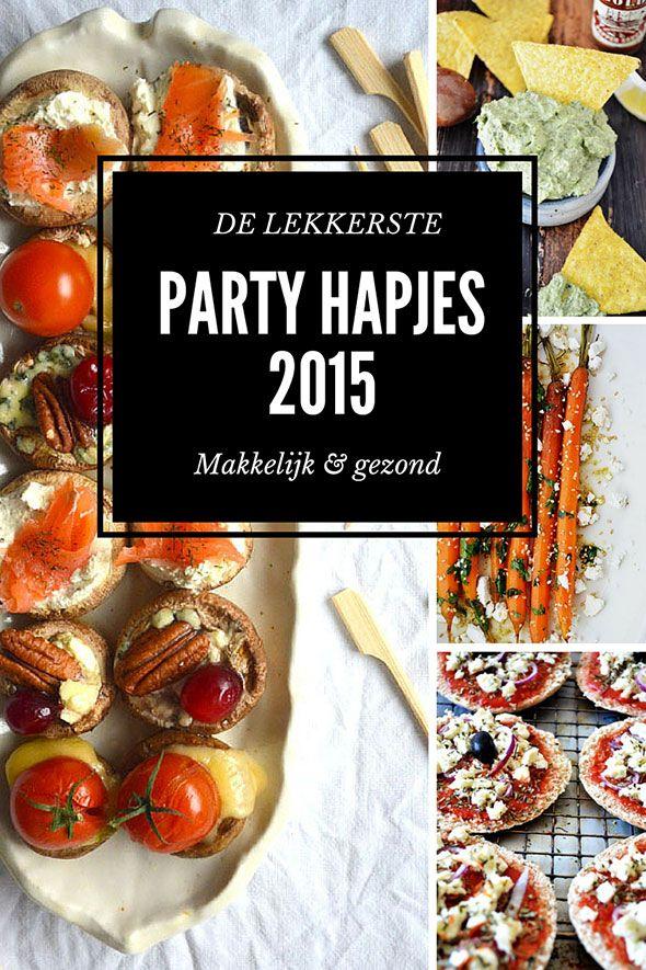 DE LEKKERSTE PARTY HAPJES VAN 2015 ZIJN MAKKELIJK EN GEZOND ● Gezond is lekker en kán heel makkelijk!  De 12 aller makkelijkste én gezondste hapjes op een rijtje... Bekijk de recepten:  http://hallosunny.blogspot.nl/2015/12/partyhapjes-gezond-makkelijk.html