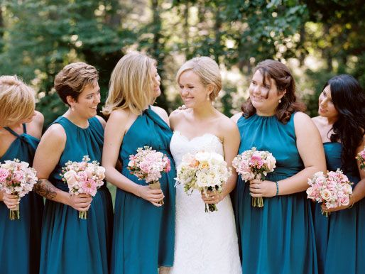 Peacock Bridesmaids
