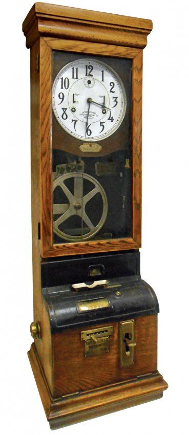 Time clock, International Time Recording Co.-Endicott, : Lot 1068