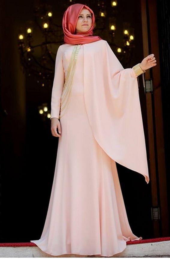 Pudra 2015 Pelerinli Tesettür Abiye Modelleri