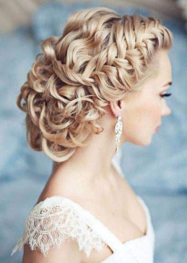 chic braided wedding hairstyles for vintage wedding ideas