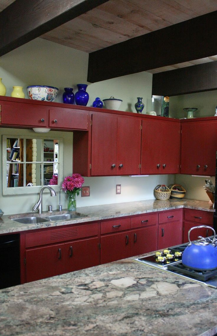 Kitchen Cabinets Painted Red 25 Best Ideas About Red Chalk Paint On Pinterest Painting Mason