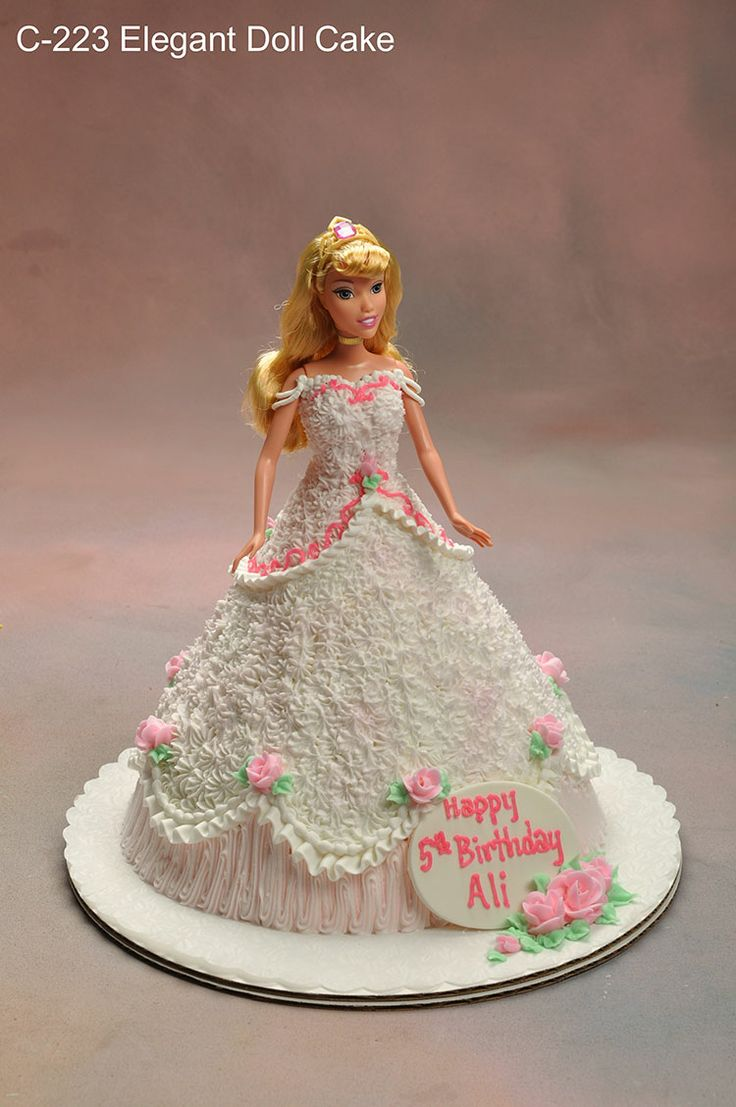 princess doll cake with buttercream - Google Search