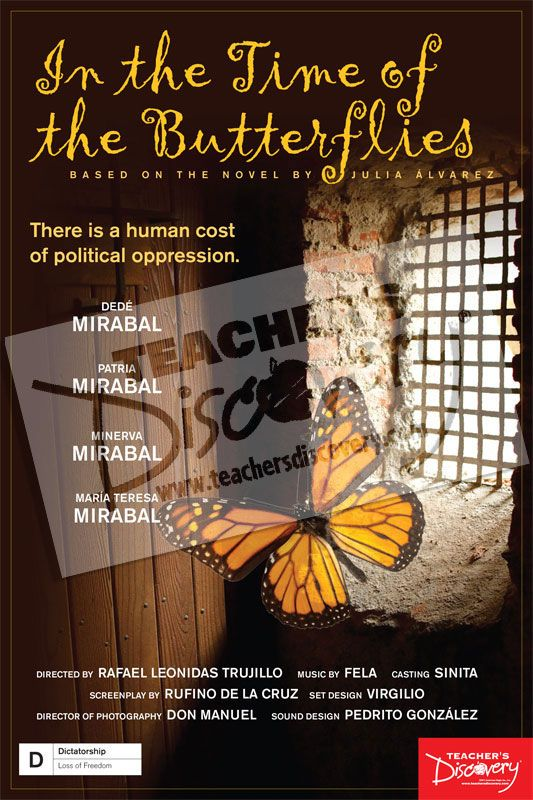 OWN: In the Time of the Butterflies Movie Poster, Clearance: Teacher's Discovery