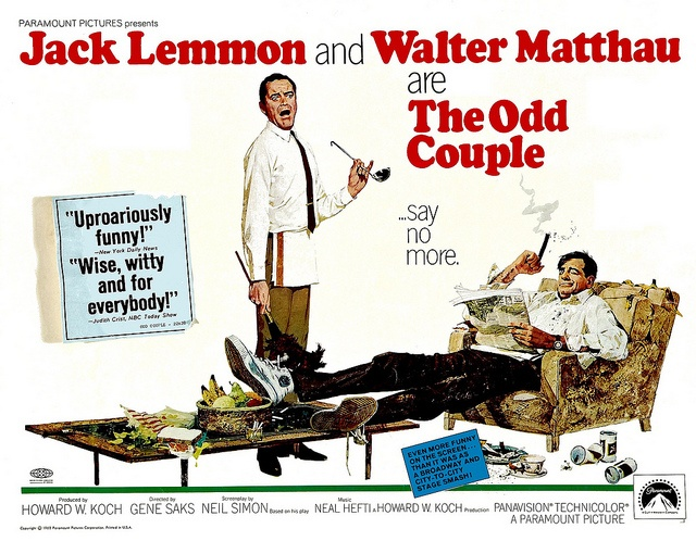 The Odd Couple,1968 Movie Posters Pinterest