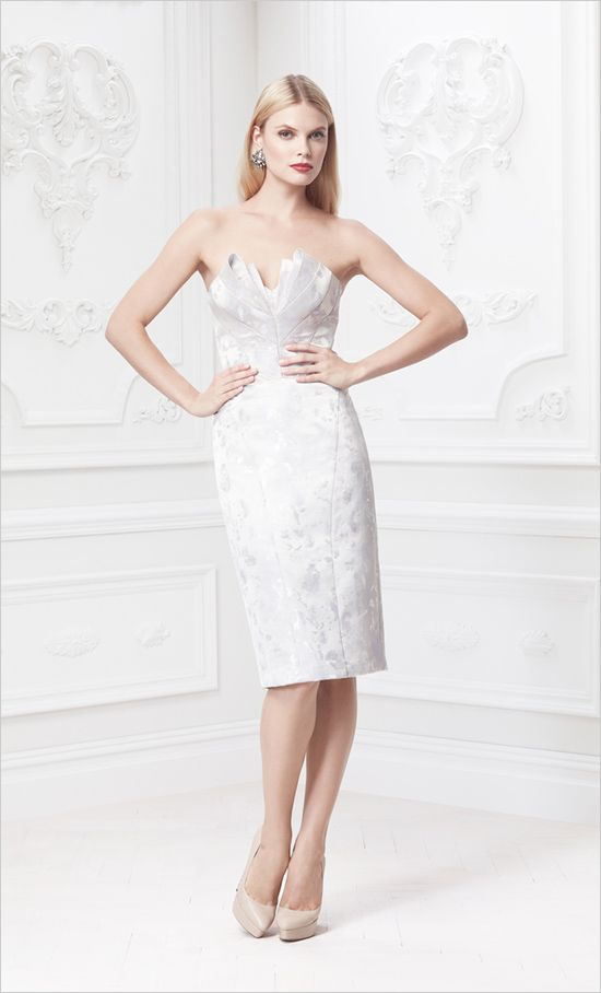 Zac Posen Occasional Dress #rehearsaldress #occasiondress #weddingchicks http://www.weddingchicks.com/2014/02/18/zac-posen-wedding-gowns/