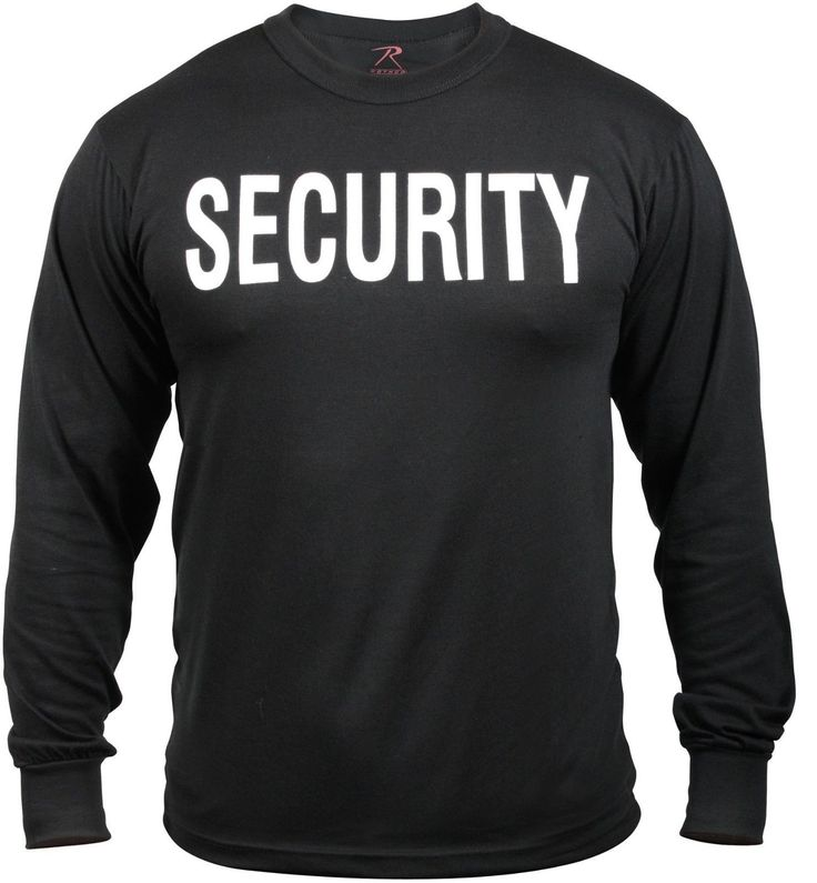 Black 'Security' Shirt - Long Sleeve SECURITY Shirt