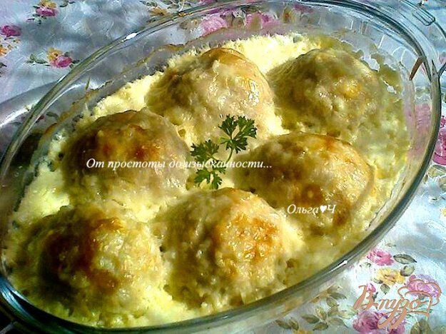 Куриные шарики с кабачком в сливочном соусе - пошаговый рецепт с фото