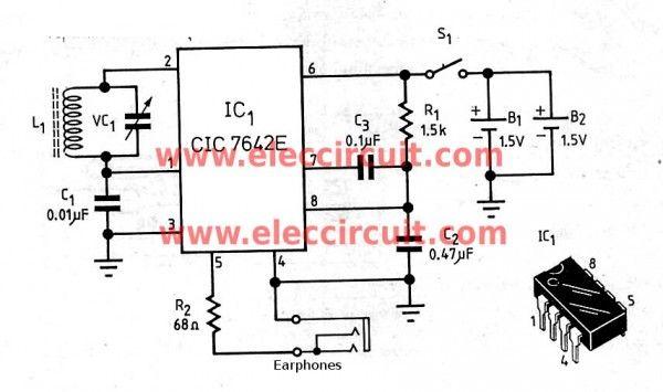 Simple Am Radio Receiver Circuit With Earphone Circuit Electronics