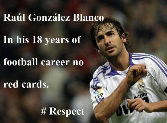 Raul Gonzalez Blanco! No reds only yellows (: