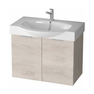 Pic Of Ar Inch Natural Bathroom Vanity Cabinet With Fitted Sink KAL