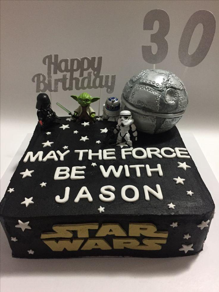Jason's 30th Star Wars Cake, with Death Star