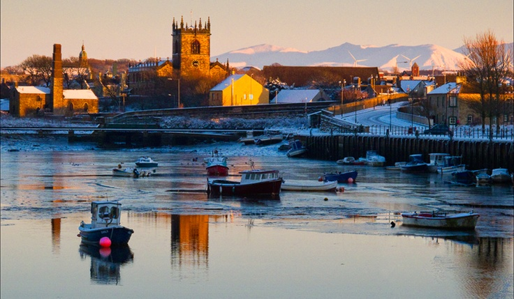 Workington harbour in winter - lived here for a year - what a crazy place!