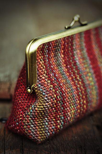 Pretty woven clutch