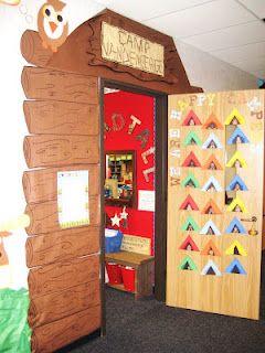 Camping Unit-Classroom Door Display: The Doors, Idea, Camps Classroom, Classroom Theme, Camps United, Camping Theme, Camps Theme, Happy Campers, First Grade