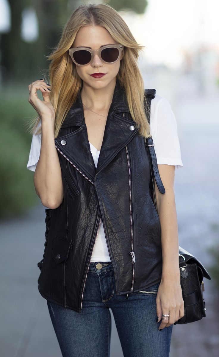 Wouldn't mind trying a leather moto vest for layering