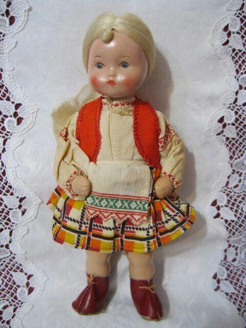 Кукла советская, пресс-опилки