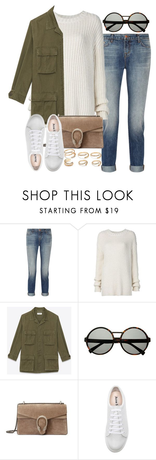 """""""Sin título #3931"""" by hellomissapple on Polyvore featuring moda, J Brand, ADAM, Yves Saint Laurent, Gucci, Acne Studios y Forever 21"""