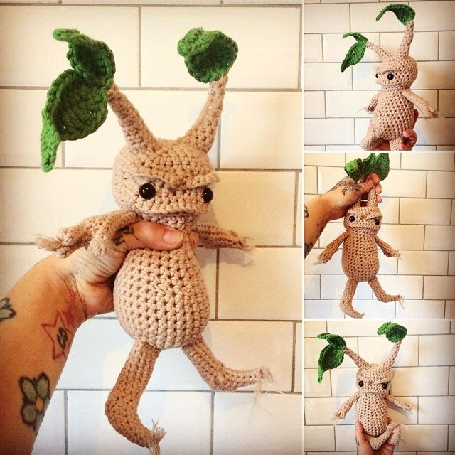 Mandrake - Amigurumi Crochet Pattern | Harry potter crochet ... | 640x640