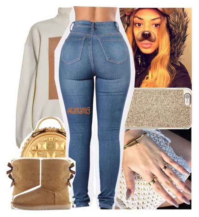 """"""""""" by lamamig ❤ liked on Polyvore featuring Michael Kors, Acne Studios, MCM and UGG"""