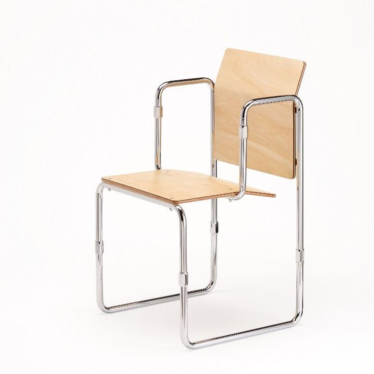 Demontabele Rietveld-stoel gereproduceerd - architectenweb.nl