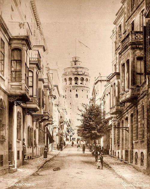 Galata Tower, Istanbul, Turkey in 1900