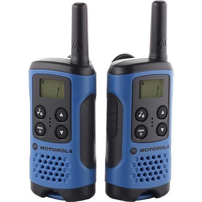 Statii radio Motorola TLKR T41, 8 canale, display LCD Albastru