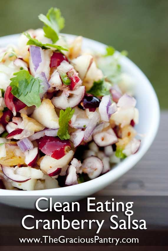 cranberry salsa… cranberries, pineapple, apple, cucumber, red onion, jalapeno pepper, fresh cilantro