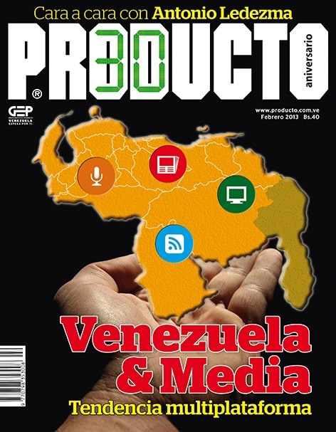Portada del febrero 2013. La edición muestra el crecimiento de los medios de comunicación en toda Venezuela y además trae una guía de medios