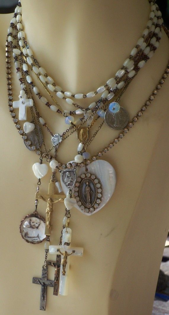 Too Much Heaven Antique French Mother of Pearl Rosary by angels9. amazing See Top 10 #image #oyster #Laptopsleeve, have a look at http://www.zazzle.com/cuteiphone6cases/gifts?cg=196670363387004095&rf=238478323816001889&tc=repin