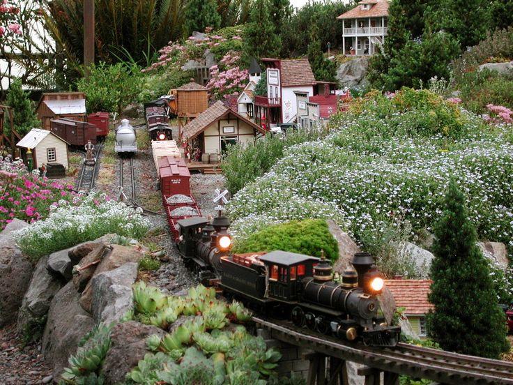 25 best ideas about garden railroad on pinterest model for Garden railway designs