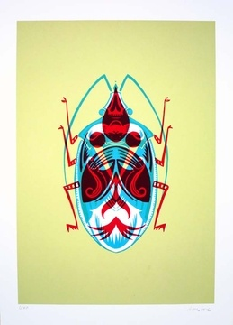 BEETLE 1 by Adam Gale - beautiful hand printed screenprint and limited edition of only 30