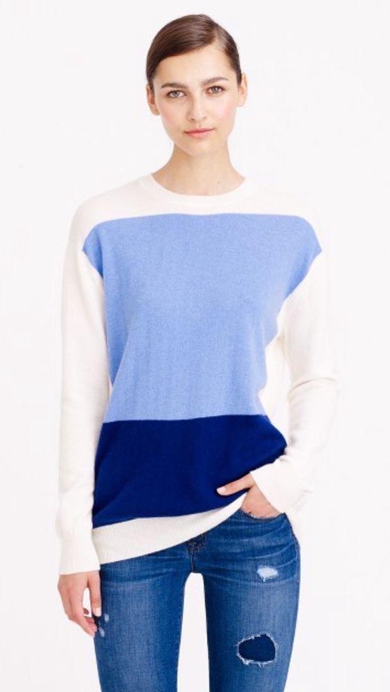 J.Crew Demylee Sage Cashmere Sweater Relaxed Fit Medium  | eBay