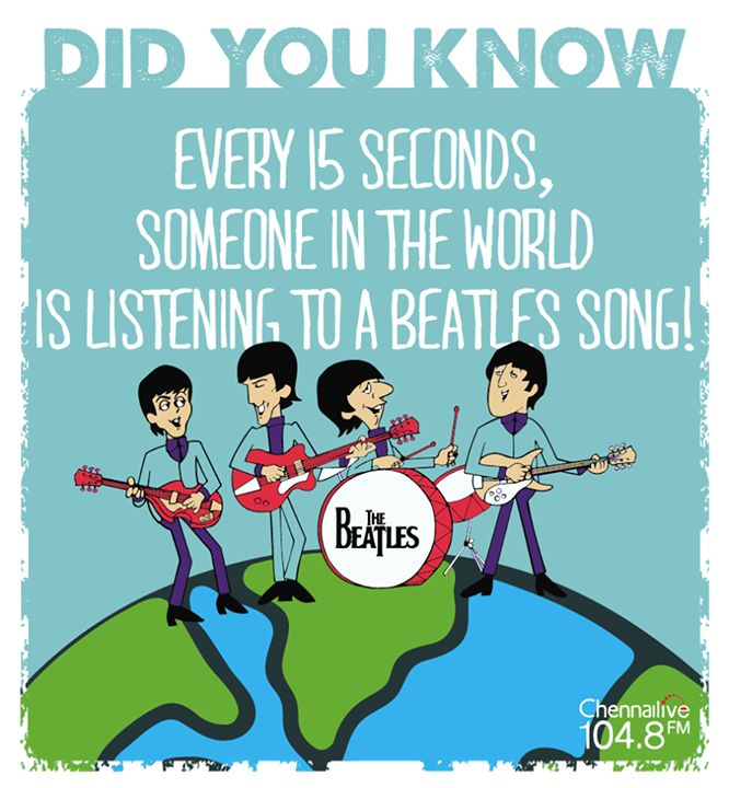In this day and age, a life of a good song is about 3 months. But there are some bands that made music more than 50 years ago, and are still loved!  How many of you have The Beatles in your list of 'favourite bands'? #Beatles #music #ChennaiLive #DidYouKnow