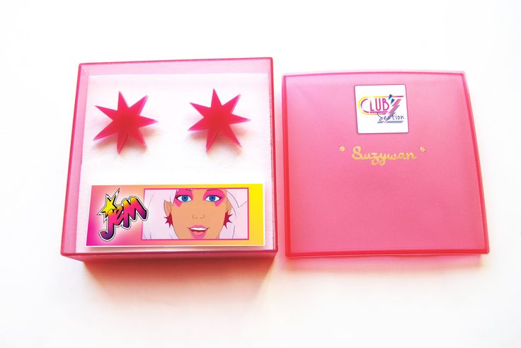 JEM and the Holograms Earrings  PINK by SuzywanDELUXE on Etsy, $20.00    I love these earrings.