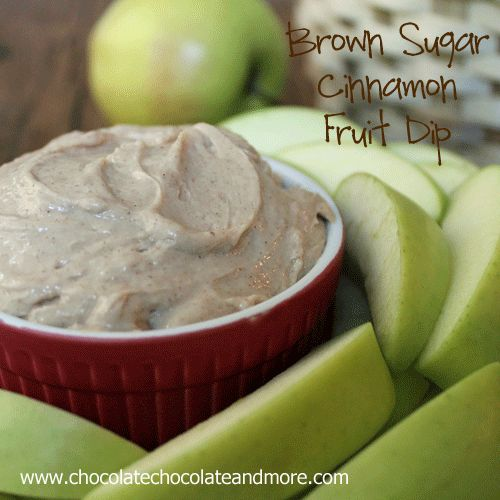 Brown Sugar Cinnamon Fruit Dip, great with any fruit or even crackers or cookie