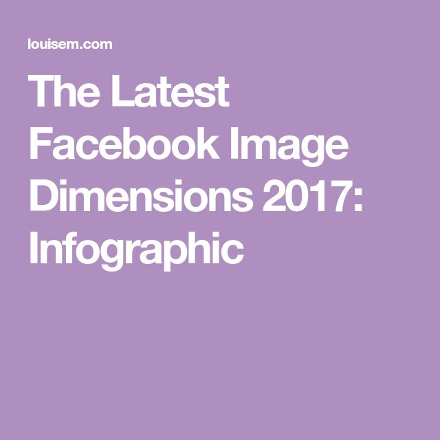 The Latest Facebook Image Dimensions 2017: Infographic