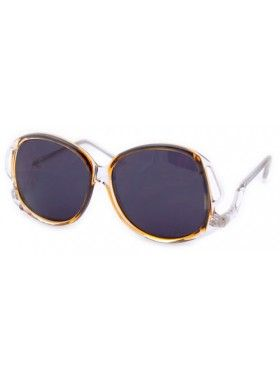 Giant Vintage Chandy Amber Sunglasses. Buy @ http://thehubmarketplace.com/Chandy-Amber-Sunglasses