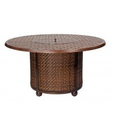 North Shore Fire Woven Table Base with Round Thatch Topwoodard hayneedle