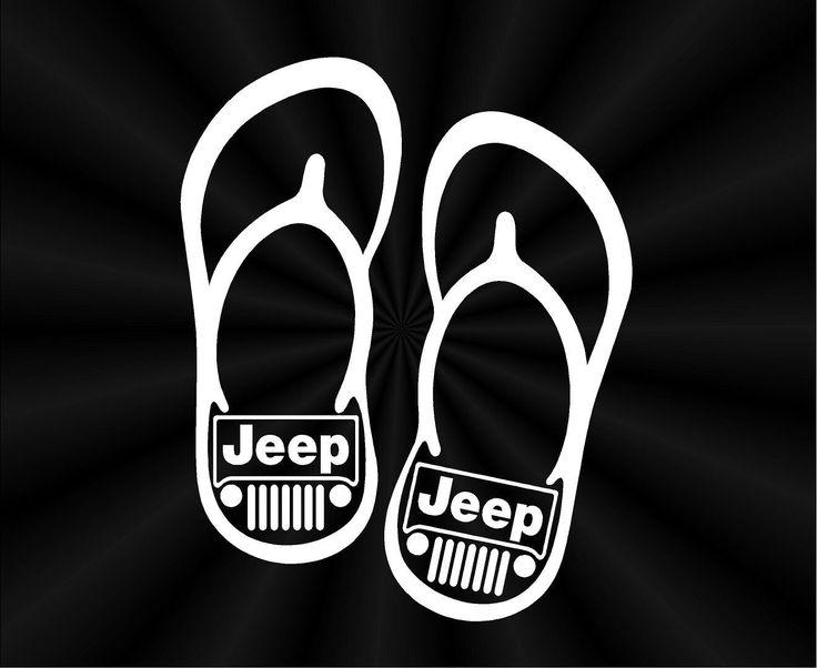 Jeep Decal Flip Flop Window Vinyl Decals Stickers 10458 By