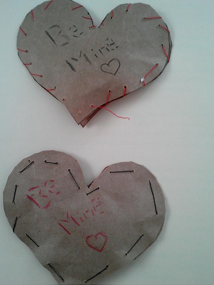 homemade valentine pillows