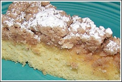 New Jersey Coffee Cake - duncan hines yellow cake  mix, flour, butter, sugar, cinnamon, vanilla