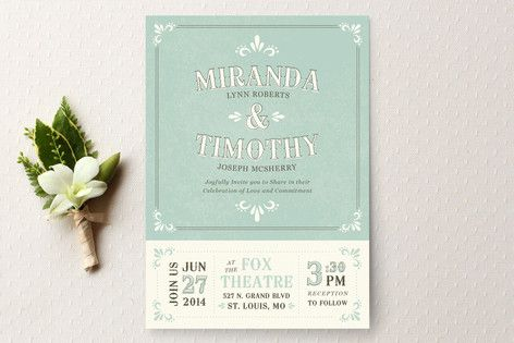 Marquee Wedding Invitations by Laura Hankins at minted.com - LOVE the format, not crazy about the pastels