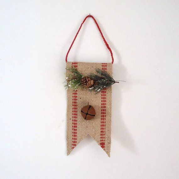 Country christmas Rustic Christmas decor burlap by ...