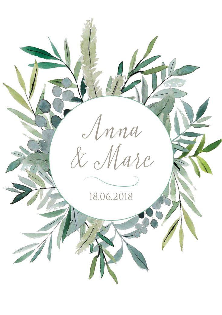 Faire Part De Mariage Aquarelle Fleuri Naturo Atelier Eksento