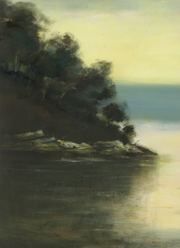 VIOLA DOMINELLO  'Calabash Point, Berowra Waters'   2011  oil on board  40 x 35 cm