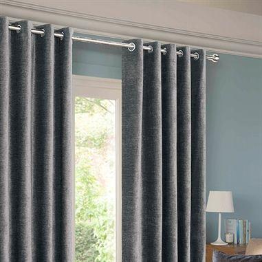 Balmoral Grey Lined Eyelet Curtains